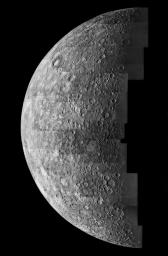Mercure vue par Mariner 10 en 1974 (NASA).