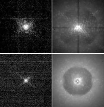 Images obtained on the sky of a single star