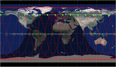 24h PicSat ground track