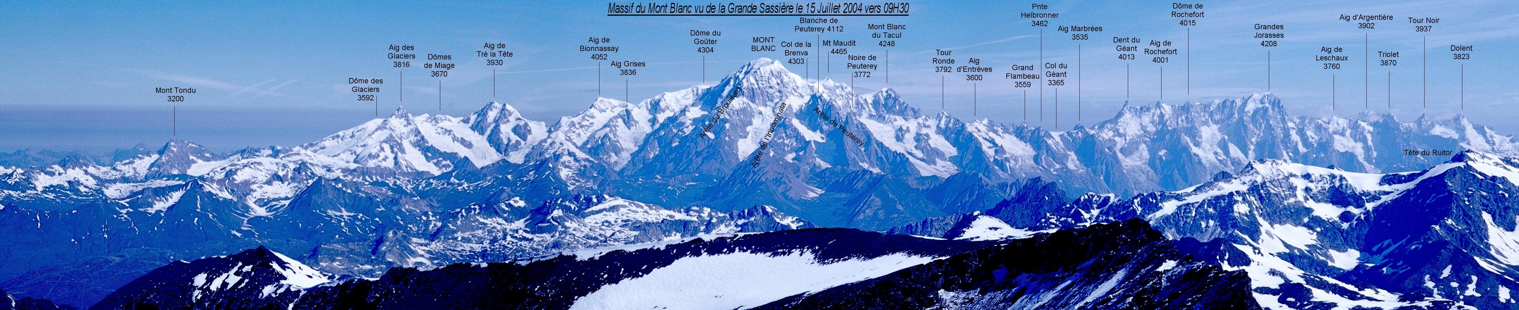 Massif Du Mont Blanc 28 Images Mont Blanc Massif